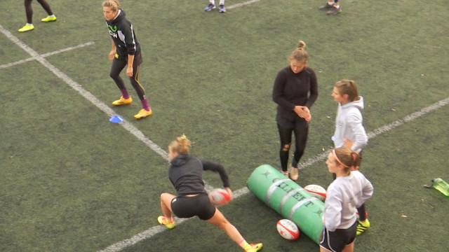 Des joueuses de l'équipe nationale de rugby à 7 à La Hulpe... en vue des JO de 2020