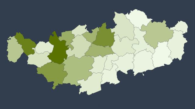 test1.308 cas confirmés de COVID-19 en Brabant wallon : les admissions à l'hôpital en baisse