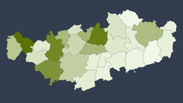 1087 cas confirmés de COVID-19 en Brabant wallon: la carte par commune