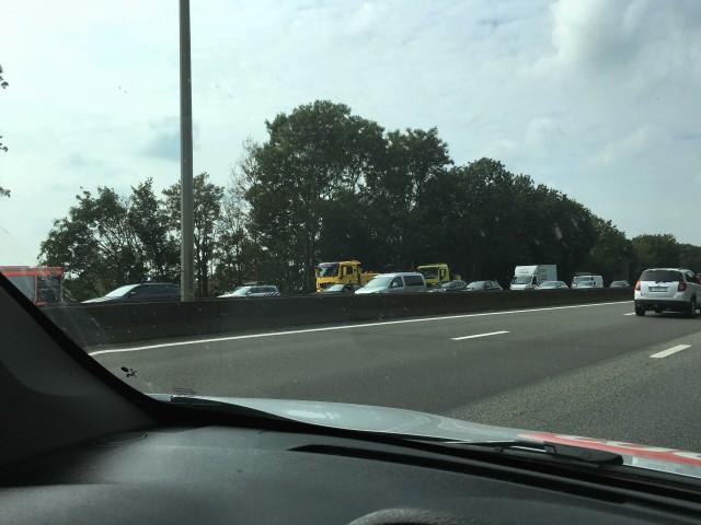 Walhain : embouteillage monstre sur la E-411
