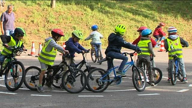 Chaumont-Gistoux : à l'école en vélo