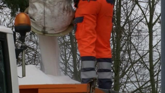 À Orp-Jauche, on se prépare pour les chutes de neige de la nuit