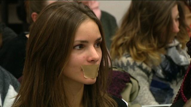 Les étudiants de l'Institut Cardijn contre la levée du secret professionnel