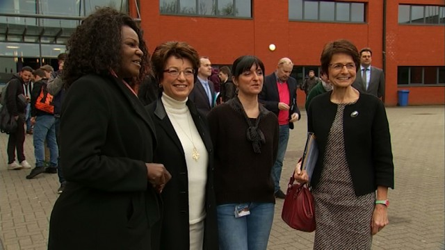 Marianne Thyssen et le Federal Truck Erasmus+ en visite à Wavre