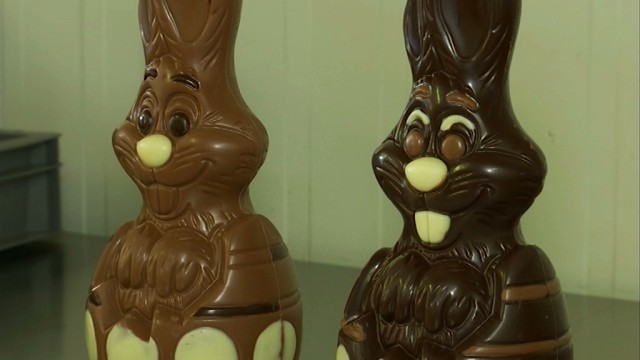 Les lapins et les oeufs en chocolat de Chez Lio