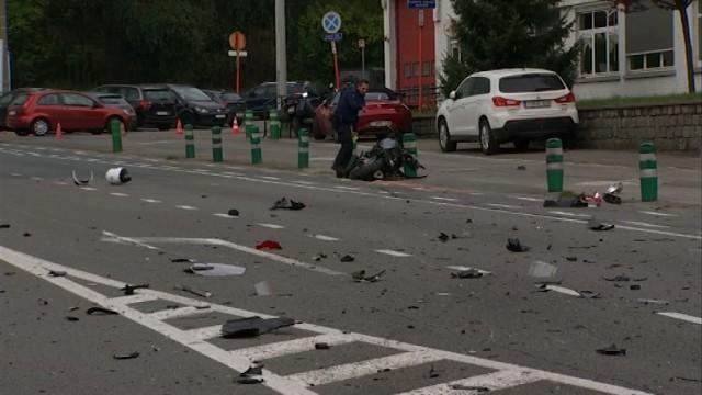 Terrible accident ce lundi à Wavre : un motard grièvement blessé