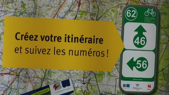 6500 balises pour le circuit cycliste points noeuds en Brabant wallon
