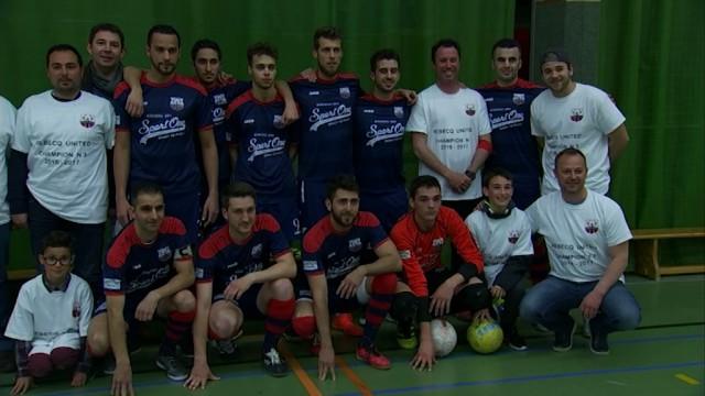 testUnited remporte le dernier derby rebecquois de foot en salle contre l'Ajax