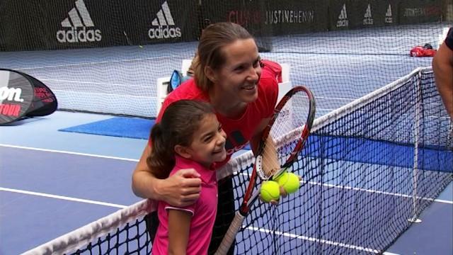 Tennis: clinic avec Justine Henin