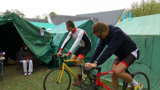 testLe Village vélo, point de rassemblement des participants aux 24 Heures Vélo