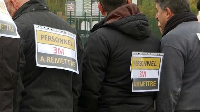 Nouvelle action des travailleurs de 3M à Nivelles