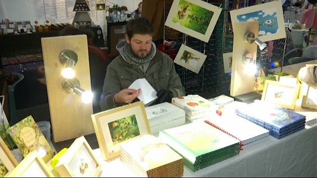 testDifférent d'un marché de Noël traditionnel, Arts d'Hiver s'installe à Ottignies
