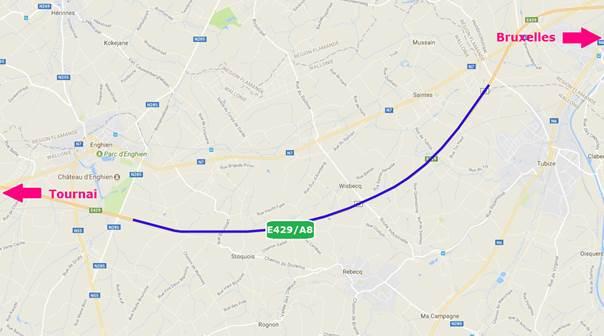E429/A8 : le chantier entre Tubize et Hoves reprend ce 9 avril