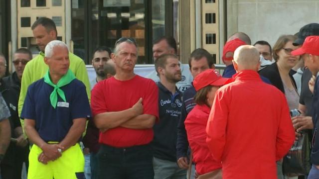 testLe personnel de l'administration communale de Nivelles en grève