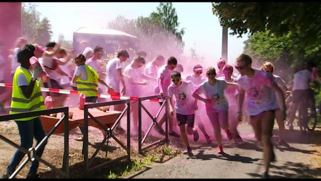 Un départ tout en couleur pour l'Happy Race à Ottignies-LLN