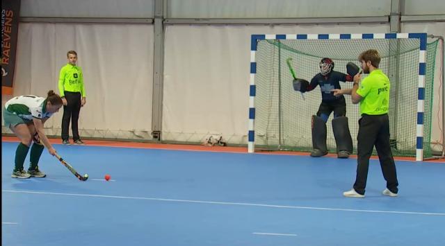 testHockey en salle : les dames du Pingouin Nivelles... en D1