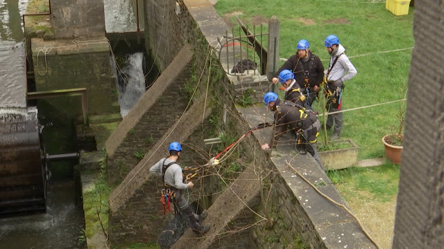 testVillers-la-Ville : Formation de cordiste en patrimoine