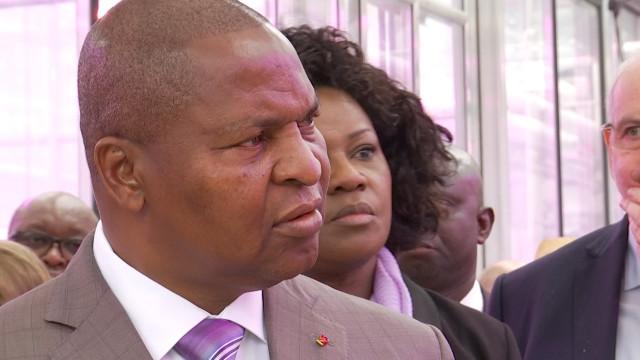 Le président de République Centrafricaine en visite à l'UCLouvain