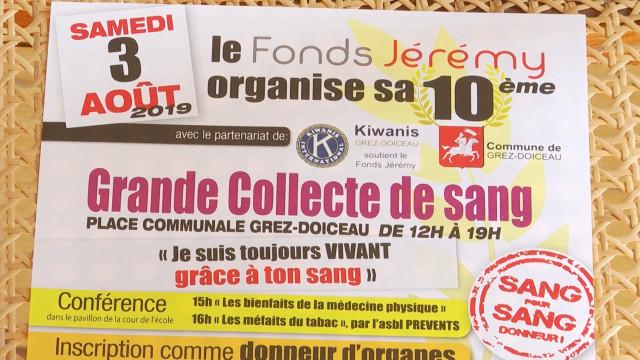 Grez-Doiceau : la grande collecte de sang ce samedi