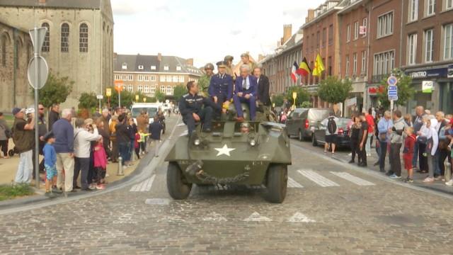 testCommémoration pour les 75 ans de la libération à Nivelles