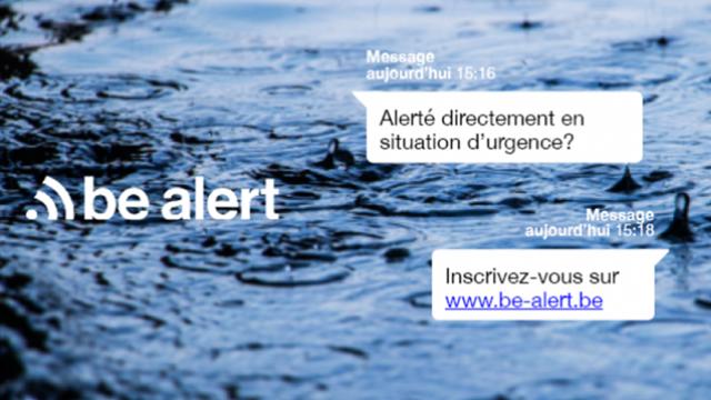 testUn SMS de BE-Alert sur votre écran ce jeudi? Pas de panique