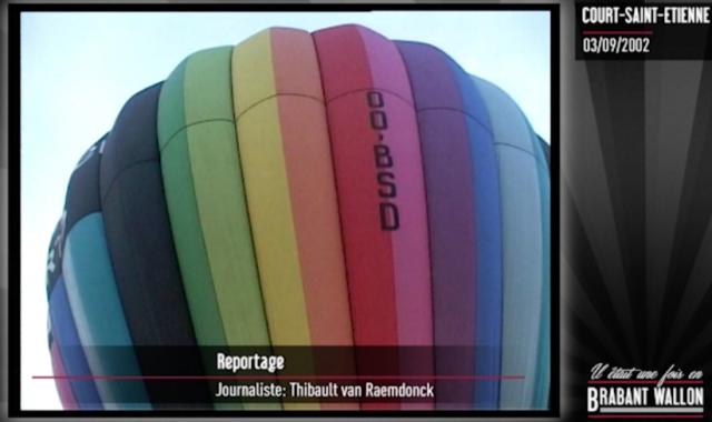 #37 COURT-SAINT-ETIENNE - Des montgolfières