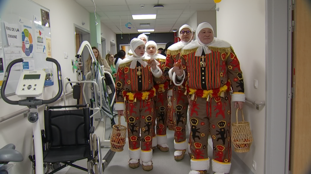 Bossage : les Gilles se sont habillés à l'hôpital de Nivelles