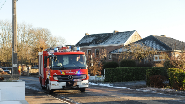 Un important incendie ravage trois habitations à Wavre