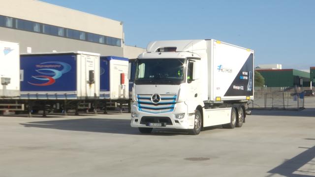 Un camion 100% électrique en test à Tubize !