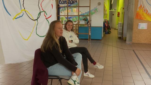 testUne rencontre unique avec des sportifs de haut niveau à l'école communale de Wisterzée