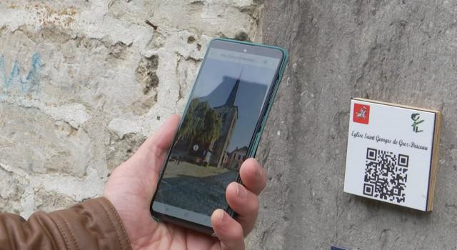 testDes QR Codes en soutien des visites virtuelles des Églises Gréziennes
