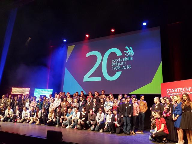test5 Brabançons médaillés au Championnat belge des Métiers Techniques