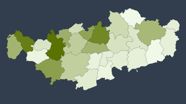 820 cas de COVID-19 détectés en Brabant wallon : la carte des communes