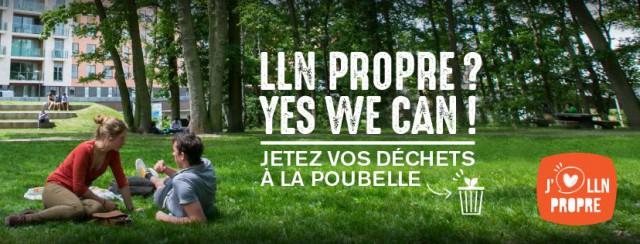 Yes we can ! Une campagne pour rendre Louvain-la-Neuve propre !
