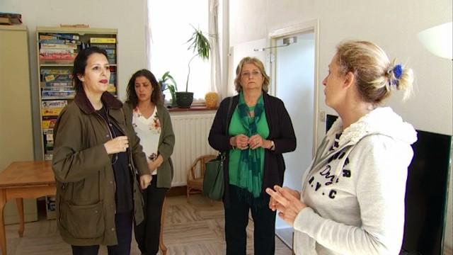 Zakia Khattabi en visite à l'Amarrage à Houtain-le-Val
