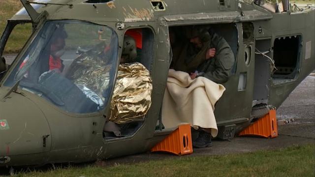 testBase de Beauvechain : crash entre un hélico et une camionnette !