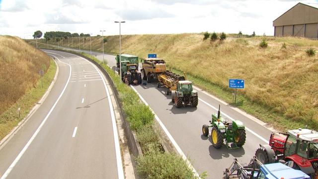 Mobilité : Blocage des agriculteurs sur la N25