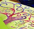 Fondation Folon : Fresque réalisée par des enfants