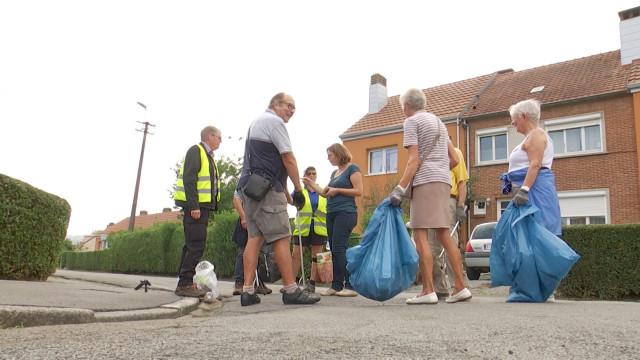Action propreté : M. et Mme Propre prennent en charge le nettoyage à Tubize