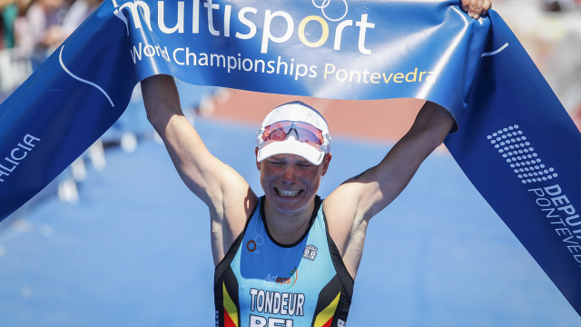Alexandra Tondeur sacrée triathlète de l'année