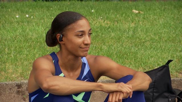 Athlétisme: Nafi Thiam se rassure sur 200m