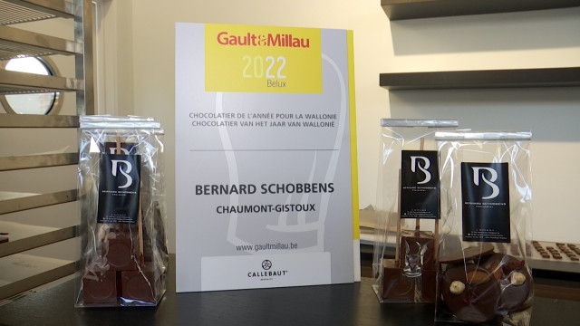 Chaumont-Gistoux : Bernard Schobbens couronné meilleur chocolatier wallon par le Gault & Millau