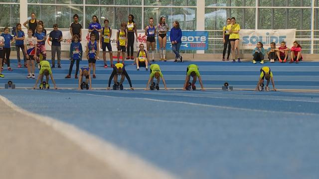 Compétition inaugurale du Hall d'athlétisme à Louvain-la-Neuve