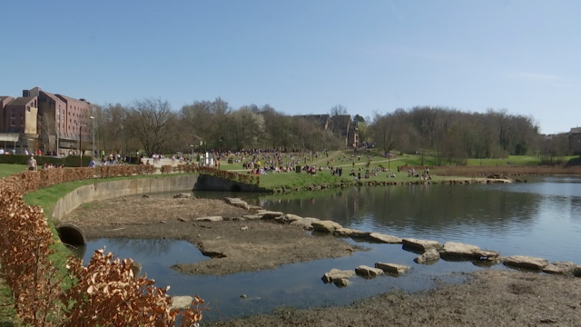 testDébordements au lac de Louvain-la-Neuve : la police évacue les étudiants