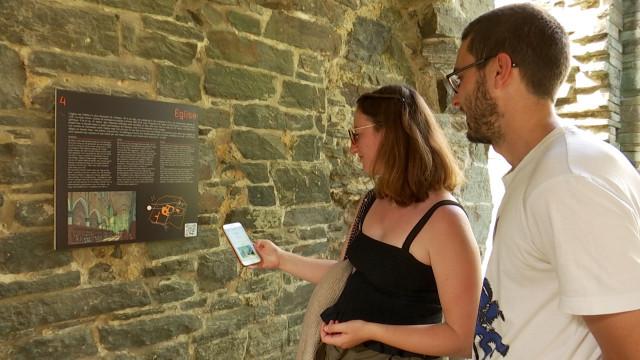 L'Abbaye de Villers s'invite dans votre smartphone via des QR codes