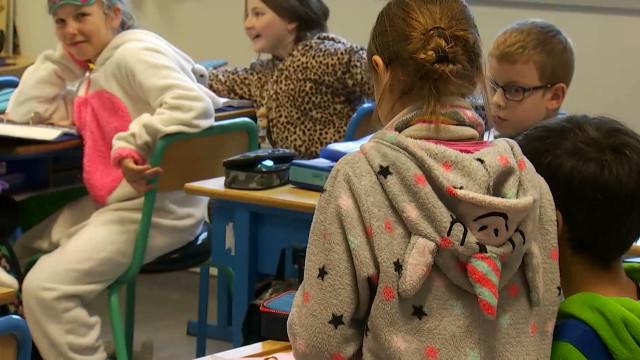 En pyjama à l'école pour soutenir leurs camarades hospitalisés