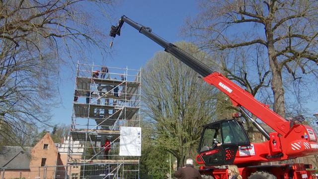 Fin des travaux de restauration du pilori de Braine-le-Château