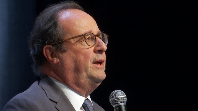 François Hollande face aux étudiants de l'UCLouvain
