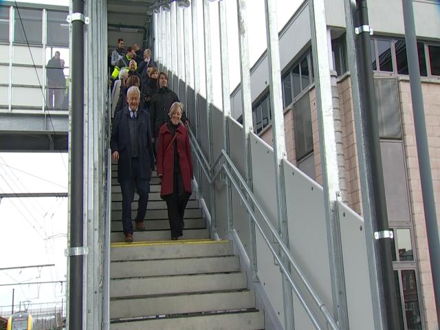 Inauguration de la passerelle à la gare d'Ottignies
