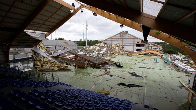 Jodoigne : un pas de plus vers la reconstruction du hall sportif